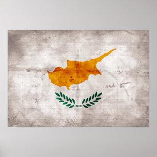 Chipre; Bandeira cipriota Poster