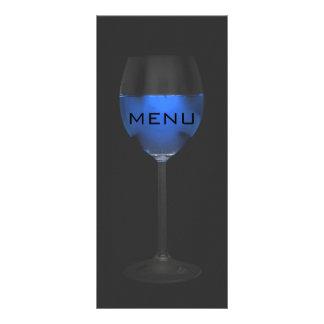 Chique azul mágico de prata elegante de Menue do 10.16 X 22.86cm Panfleto