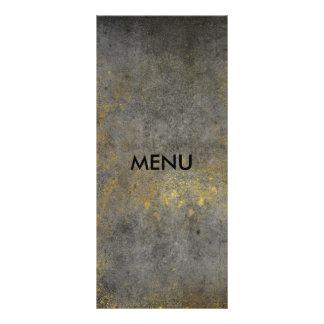 Chique cinzento sujo de Menue do ouro elegante 10.16 X 22.86cm Panfleto