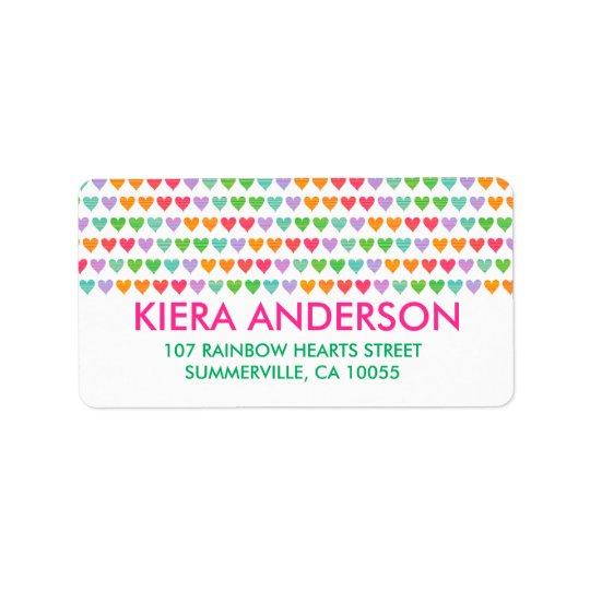Chique colorido do teste padrão do divertimento etiqueta de endereço