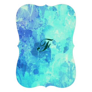 Chique congelado da arte da pintura do gotejamento convite 12.27 x 17.78cm