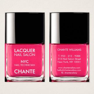 Chique cor-de-rosa de néon na moda à moda moderno cartão de visitas
