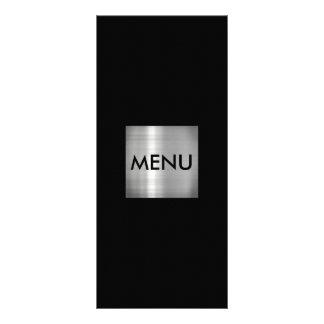Chique de prata elegante de Menue 10.16 X 22.86cm Panfleto