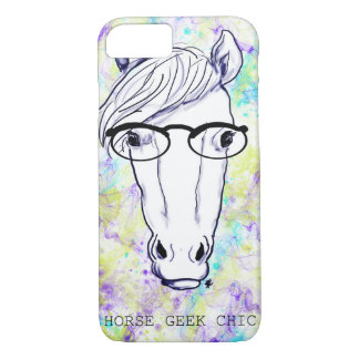 Chique do geek do cavalo capa iPhone 7