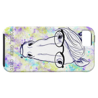 Chique do geek do cavalo capa tough para iPhone 5