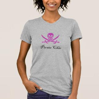 Chique do pirata camiseta