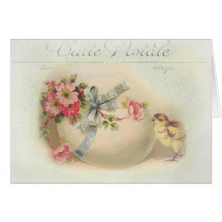 Chique e ovo da páscoa do Victorian Cartao