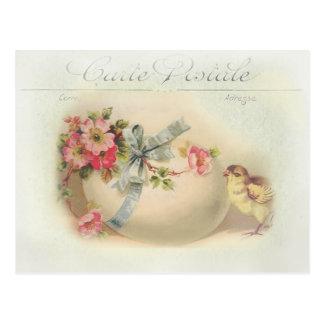 Chique e ovo da páscoa do Victorian Cartão Postal