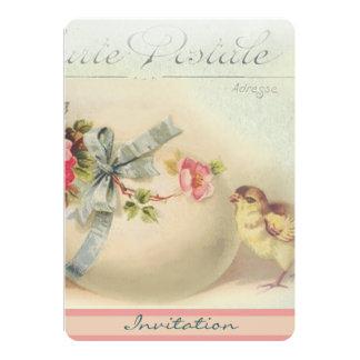 Chique e ovo da páscoa do Victorian Convite Personalizado
