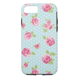 Chique floral da capa de telefone do rosa do