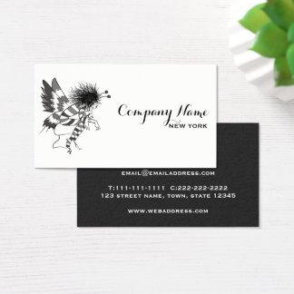 Chique na moda branco preto simples à moda cartão de visitas