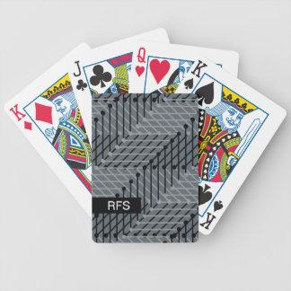 CHIQUE QUE JOGA CARDS_BLACK/GREY GEOMÉTRICO NO CARTAS DE BARALHOS