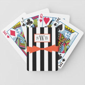 CHIQUE QUE JOGA CARDS_BLACK/WHITE STRIPES/FLAME CARTAS DE BARALHOS