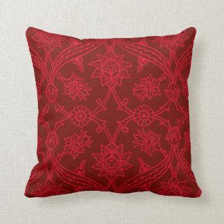 Chique vermelho de Boho da flor Almofada
