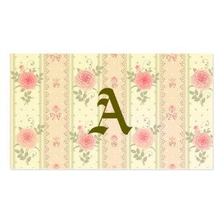 Chique, victorian, floral, papel de parede, cartão de visita