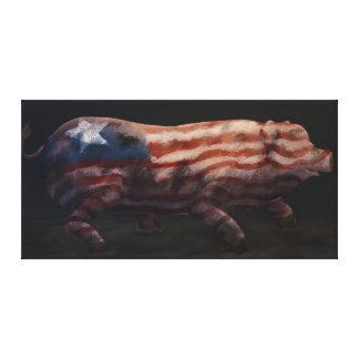 Chiqueiro de porco - impressão Lowbrow da arte das Impressão De Canvas Esticadas
