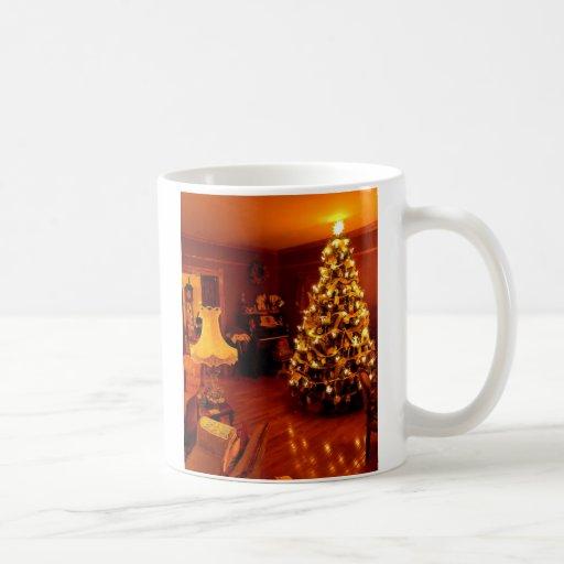 chistmas antiquados, Natal antiquado Canecas