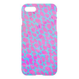 Chita azul cor-de-rosa fluorescente capa iPhone 7