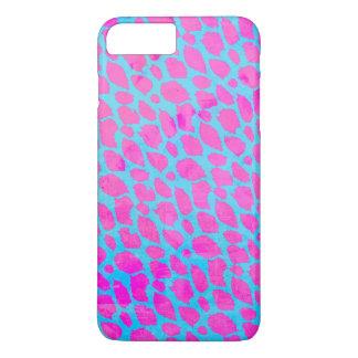 Chita azul cor-de-rosa fluorescente capa iPhone 7 plus
