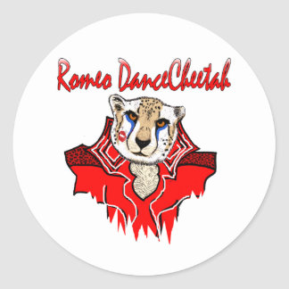 Chita da dança de Romeo Adesivos Redondos