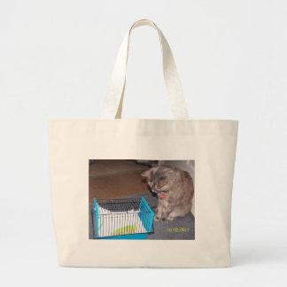 Chloe o gato que ajuda o a relaxar sacola tote jumbo