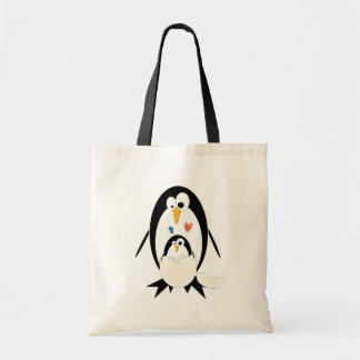 Chocando a sacola do pinguim sacola tote budget