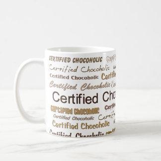 Chocoholic certificado caneca de café
