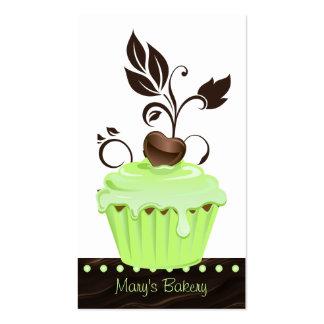 Chocolate bonito 2 da hortelã do cupcake do cartão cartões de visitas