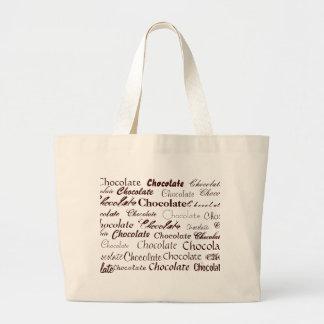 Chocolate, chocolate, chocolate, chocolate, Cho… Bolsa Tote Grande