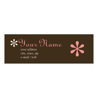 Chocolate da modificação & cartão telefónico cartão de visita skinny