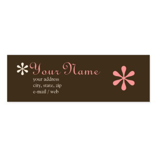 Chocolate da modificação & cartão telefónico cor-d modelo cartao de visita