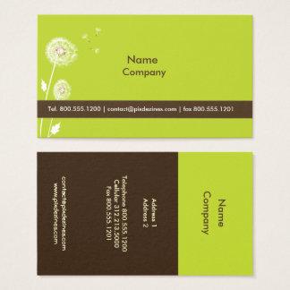 Chocolate da obscuridade da cor de cartão de visitas