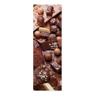 chocolate do marcador do choco cartão de visita skinny