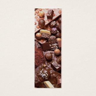 chocolate do marcador do choco cartão de visitas mini