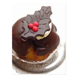 chocolate do Natal Cartão Postal