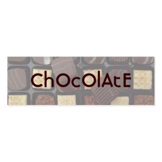 chocolate doce cartão de visita skinny