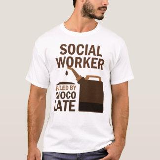 Chocolate (engraçado) do assistente social camisetas