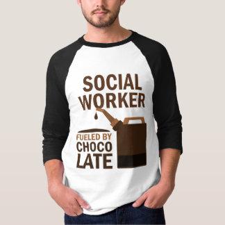 Chocolate (engraçado) do assistente social t-shirts