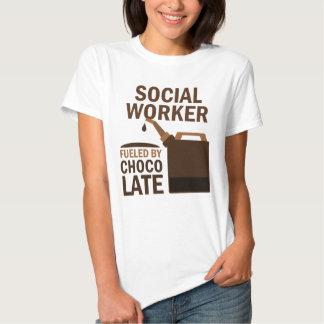 Chocolate (engraçado) do assistente social tshirt