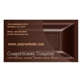 Chocolate escuro cremoso dos cartões de visitas de