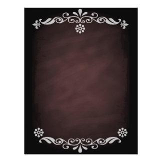 Chocolate floral do esboço do quadro-negro modelo de panfleto