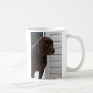Chocolate labrador retriever caneca de café