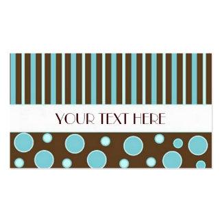 Chocolate & padrões azuis cartao de visita