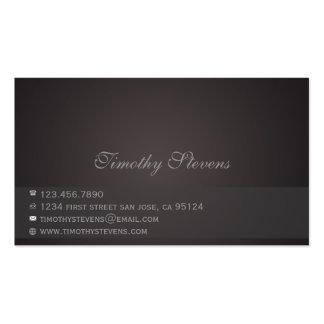 Chocolate simples cartão de visita