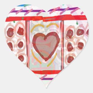 Chocolates doces do querido n: CAÇOA a arte Adesivo Coração