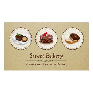 Chocolates doces - o costume endurece a sobremesa cartão de visita