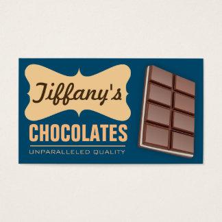 Chocolates Handmade retros da loja | do chocolate Cartão De Visitas