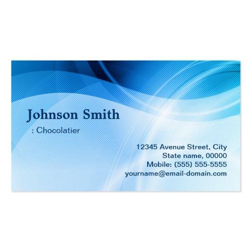 Chocolatier - criativo azul moderno cartão de visita
