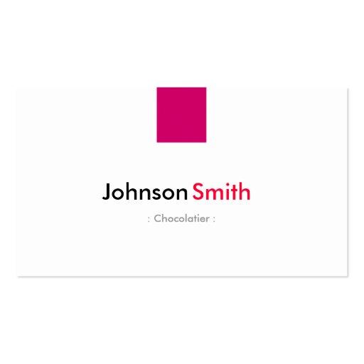 Chocolatier - rosa cor-de-rosa simples modelo cartões de visitas