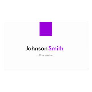 Chocolatier - violeta roxa simples cartão de visita